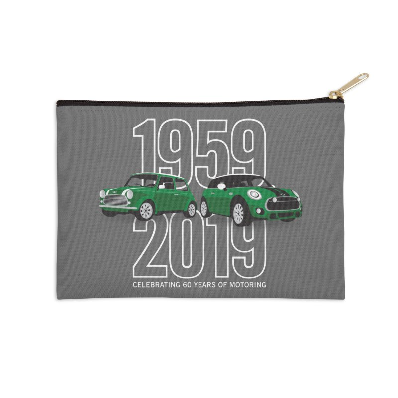 MINI 60th Anniversary Accessories Zip Pouch by TwistyMini Motoring Shirts