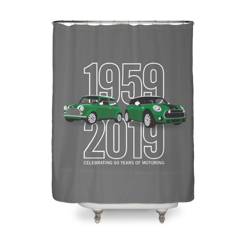 MINI 60th Anniversary Home Shower Curtain by TwistyMini Motoring Shirts