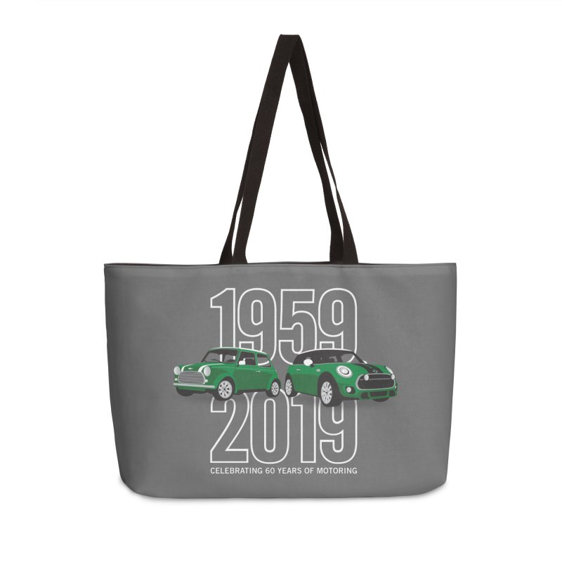 MINI 60th Anniversary Accessories Weekender Bag Bag by TwistyMini Motoring Shirts