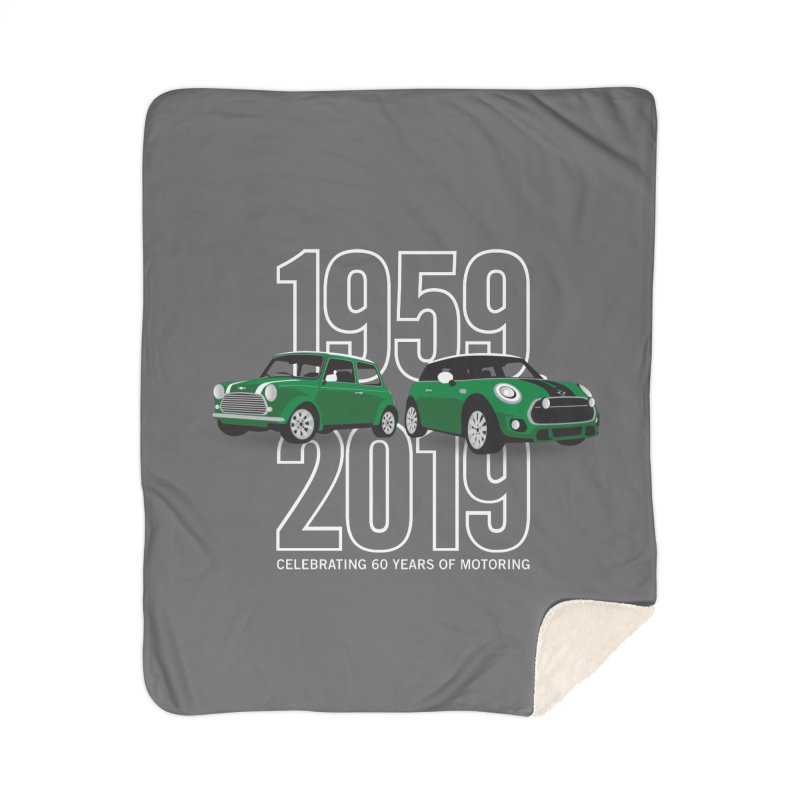 MINI 60th Anniversary Home Sherpa Blanket Blanket by TwistyMini Motoring Shirts