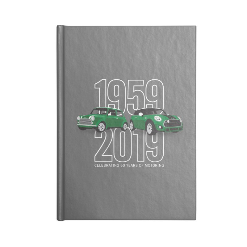 MINI 60th Anniversary Accessories Lined Journal Notebook by TwistyMini Motoring Shirts