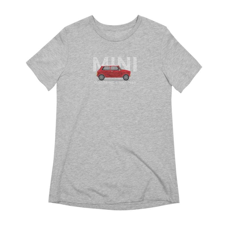 Classic Mini Women's Extra Soft T-Shirt by TwistyMini Motoring Shirts