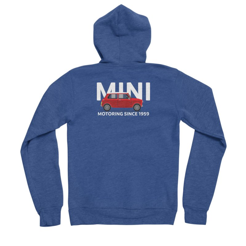 Classic Mini Men's Sponge Fleece Zip-Up Hoody by TwistyMini Motoring Shirts