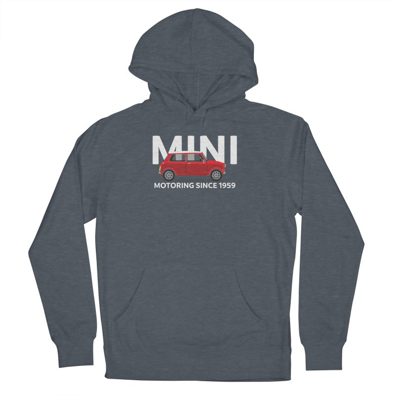 Classic Mini Women's French Terry Pullover Hoody by TwistyMini Motoring Shirts