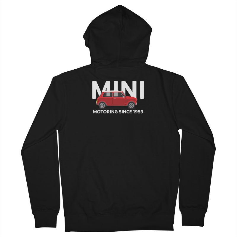 Classic Mini Women's French Terry Zip-Up Hoody by TwistyMini Motoring Shirts