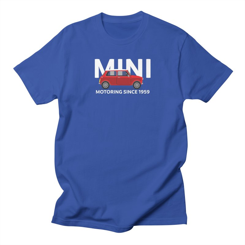 Classic Mini Women's Regular Unisex T-Shirt by TwistyMini Motoring Shirts