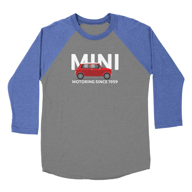 Classic Mini Women's Baseball Triblend Longsleeve T-Shirt by TwistyMini Motoring Shirts