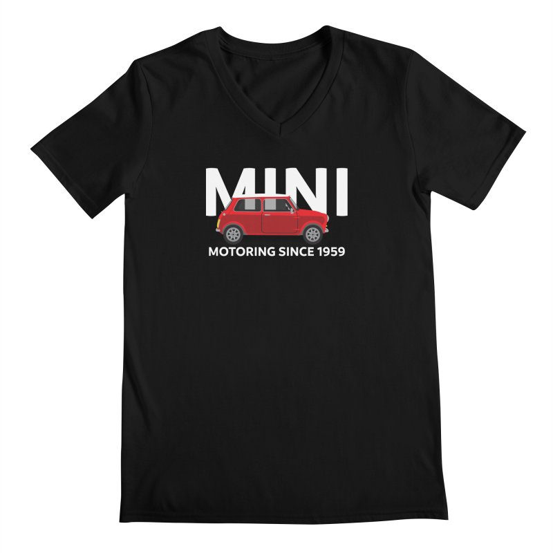 Classic Mini Men's Regular V-Neck by TwistyMini Motoring Shirts
