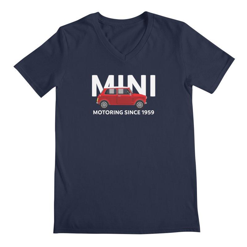 Classic Mini Men's Regular V-Neck by TwistyMini Motoring Shirts