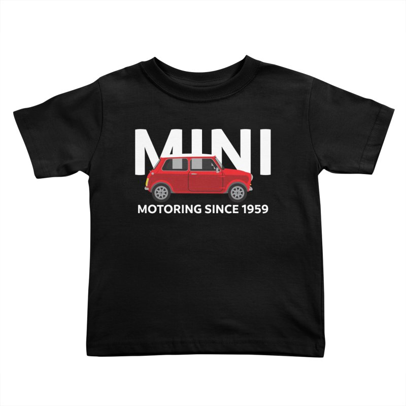 Classic Mini Kids Toddler T-Shirt by TwistyMini Motoring Shirts