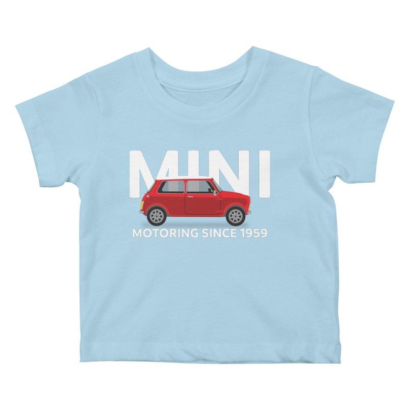 Classic Mini Kids Baby T-Shirt by TwistyMini Motoring Shirts
