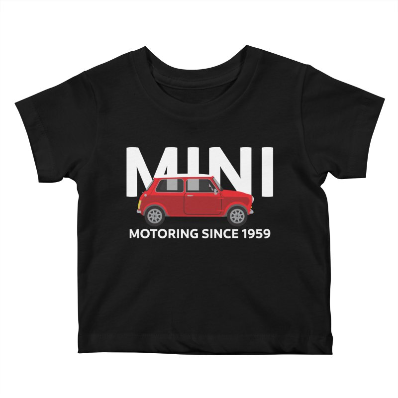 Classic Mini Kids Baby T-Shirt by TwistyMini Motoring Shirts