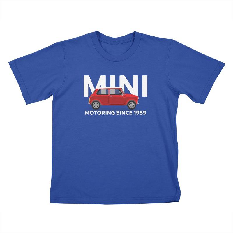 Classic Mini Kids T-Shirt by TwistyMini Motoring Shirts