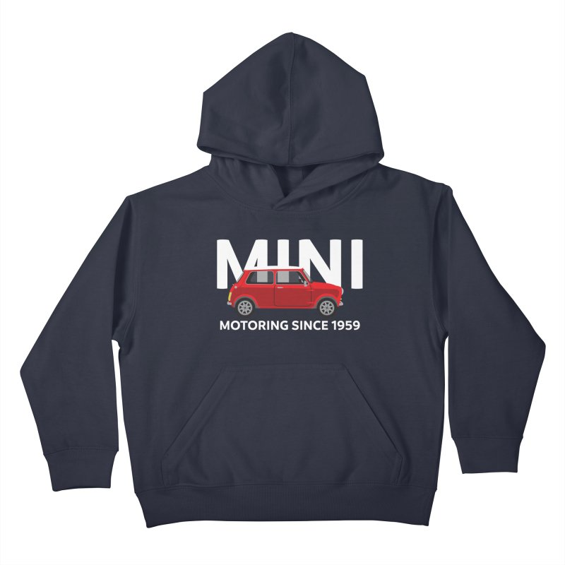 Classic Mini Kids Pullover Hoody by TwistyMini Motoring Shirts