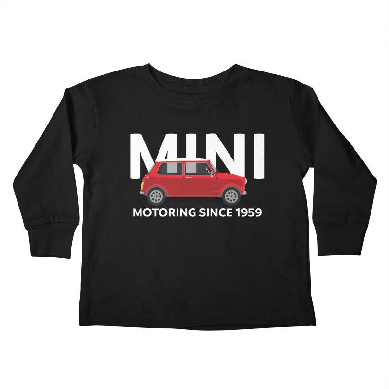 Classic Mini Kids Toddler Longsleeve T-Shirt by TwistyMini Motoring Shirts