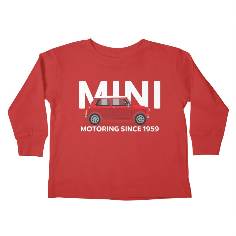 Classic Mini Kids Toddler Longsleeve T-Shirt by TwistyMini Motoring Shirts
