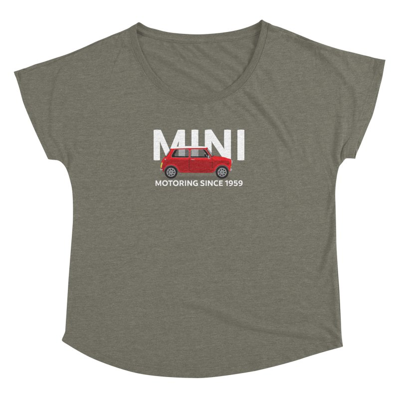 Classic Mini Women's Dolman Scoop Neck by TwistyMini Motoring Shirts