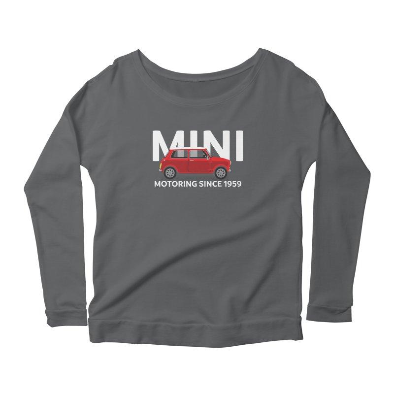 Classic Mini Women's Scoop Neck Longsleeve T-Shirt by TwistyMini Motoring Shirts