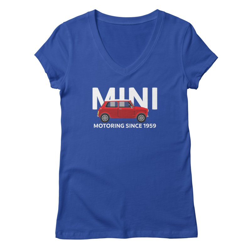 Classic Mini Women's Regular V-Neck by TwistyMini Motoring Shirts