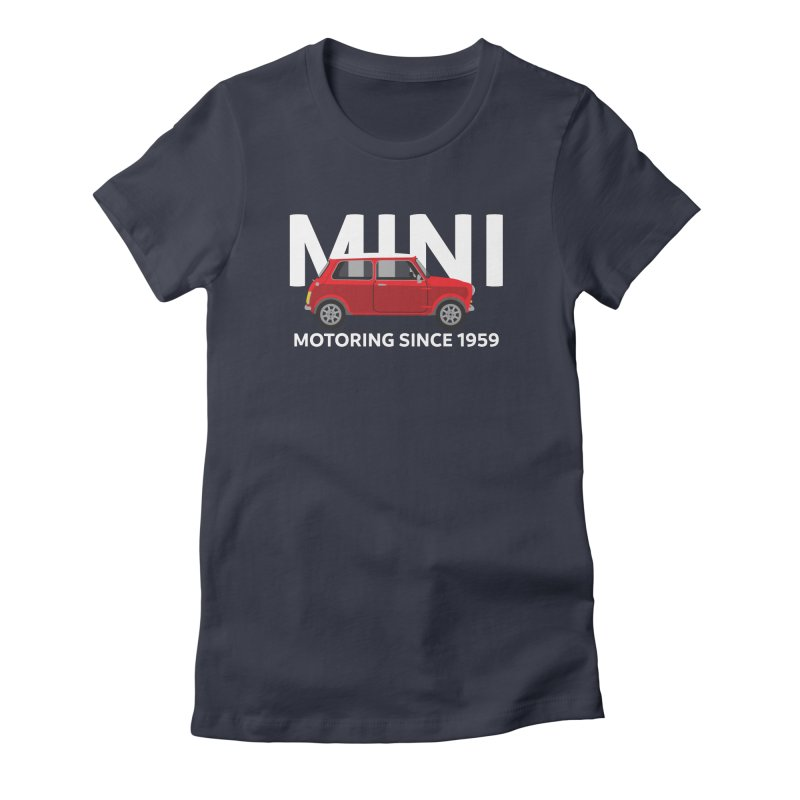 Classic Mini Women's Fitted T-Shirt by TwistyMini Motoring Shirts