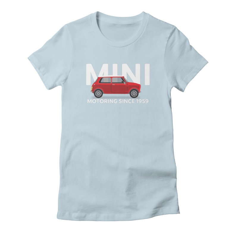 Classic Mini Women's Fitted T-Shirt by TwistyMini Motoring Shirts