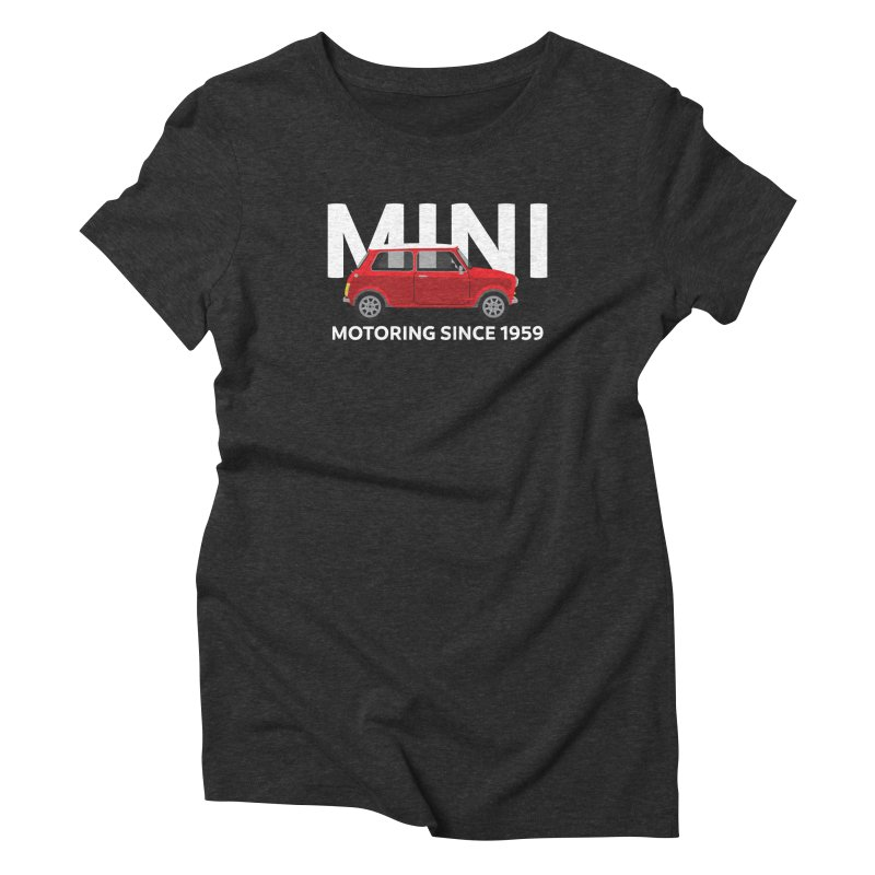 Classic Mini Women's Triblend T-Shirt by TwistyMini Motoring Shirts