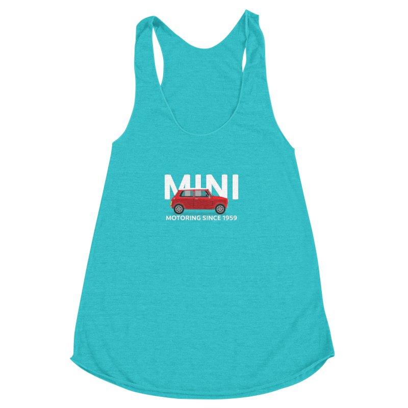 Classic Mini Women's Racerback Triblend Tank by TwistyMini Motoring Shirts