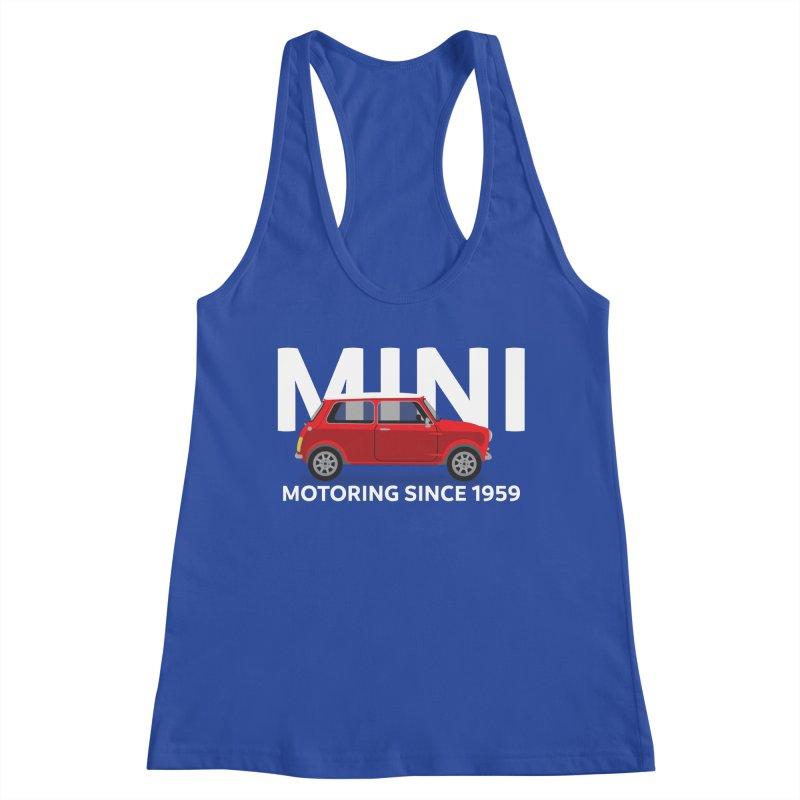 Classic Mini Women's Racerback Tank by TwistyMini Motoring Shirts
