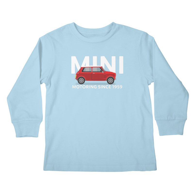 Classic Mini Kids Longsleeve T-Shirt by TwistyMini Motoring Shirts