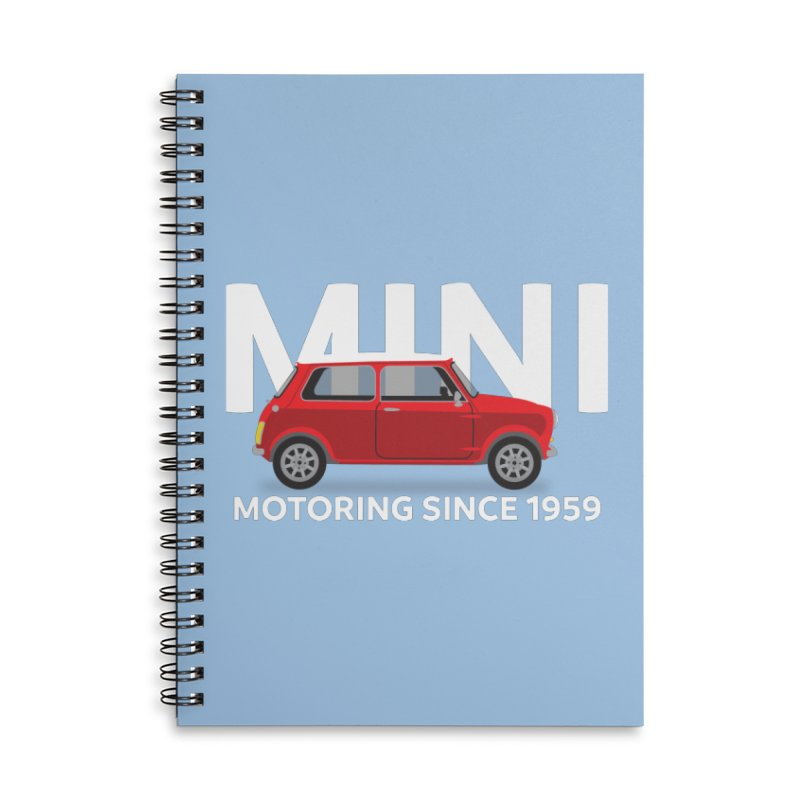 Classic Mini Accessories Lined Spiral Notebook by TwistyMini Motoring Shirts