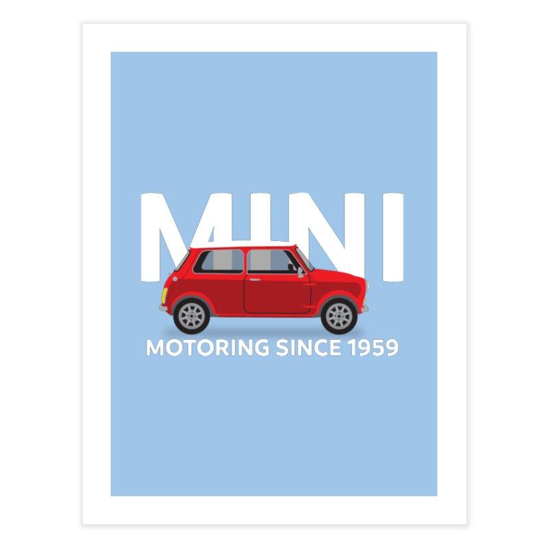 Classic Mini Home Fine Art Print by TwistyMini Motoring Shirts