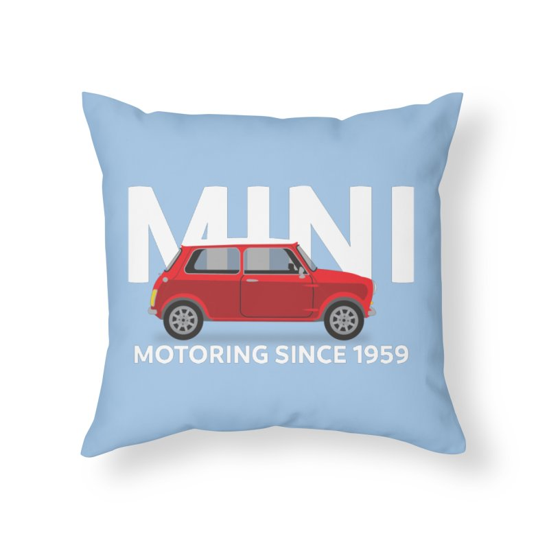 Classic Mini Home Throw Pillow by TwistyMini Motoring Shirts