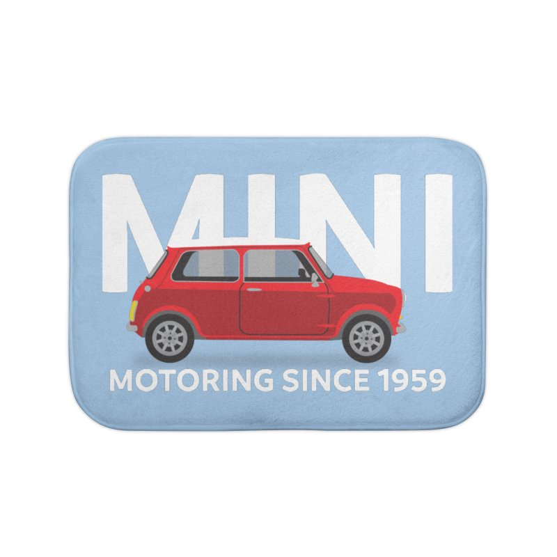 Classic Mini Home Bath Mat by TwistyMini Motoring Shirts