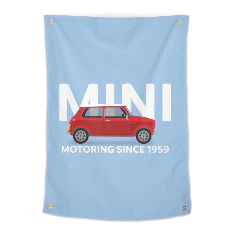 Classic Mini Home Tapestry by TwistyMini Motoring Shirts