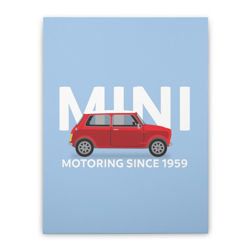 Classic Mini Home Stretched Canvas by TwistyMini Motoring Shirts