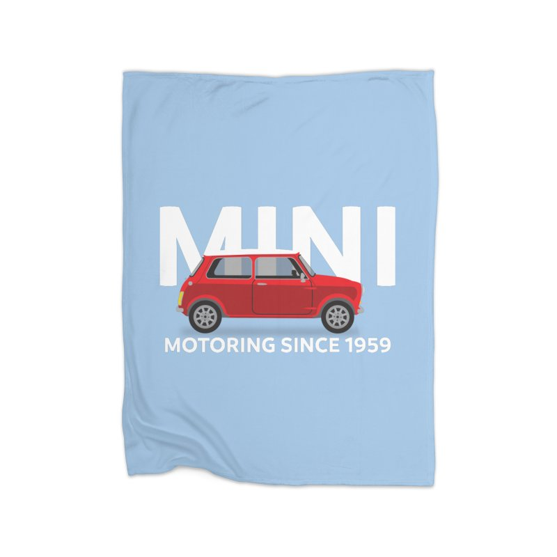 Classic Mini Home Fleece Blanket Blanket by TwistyMini Motoring Shirts