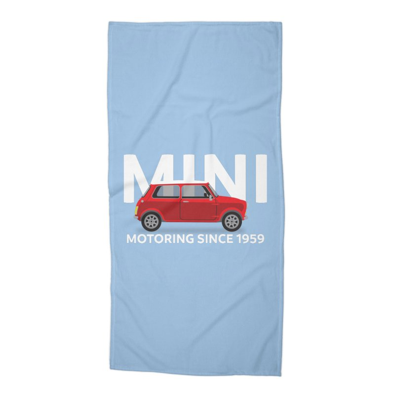 Classic Mini Accessories Beach Towel by TwistyMini Motoring Shirts