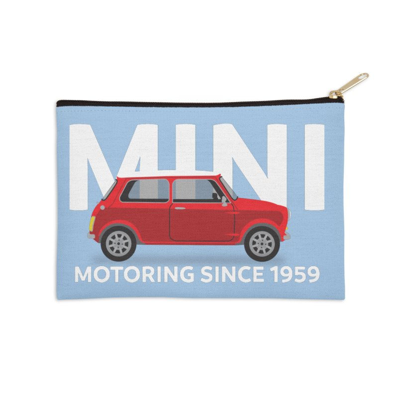Classic Mini Accessories Zip Pouch by TwistyMini Motoring Shirts
