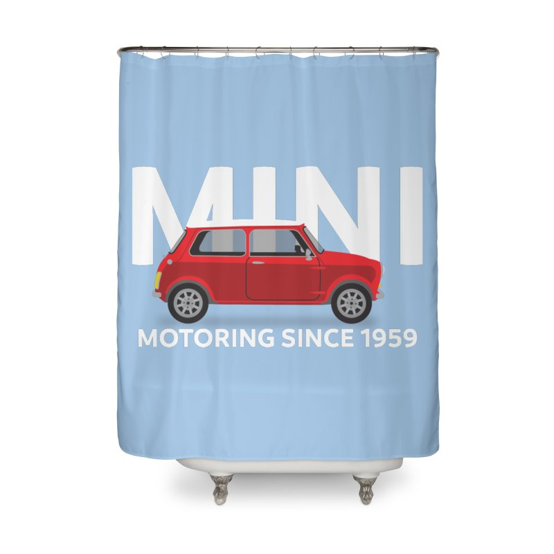 Classic Mini Home Shower Curtain by TwistyMini Motoring Shirts