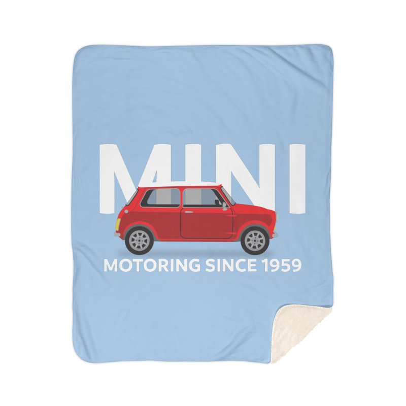 Classic Mini Home Blanket by TwistyMini Motoring Shirts