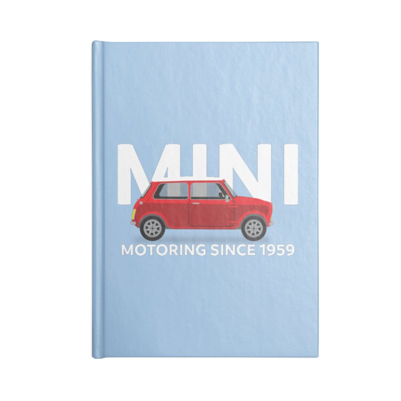 Classic Mini Accessories Lined Journal Notebook by TwistyMini Motoring Shirts