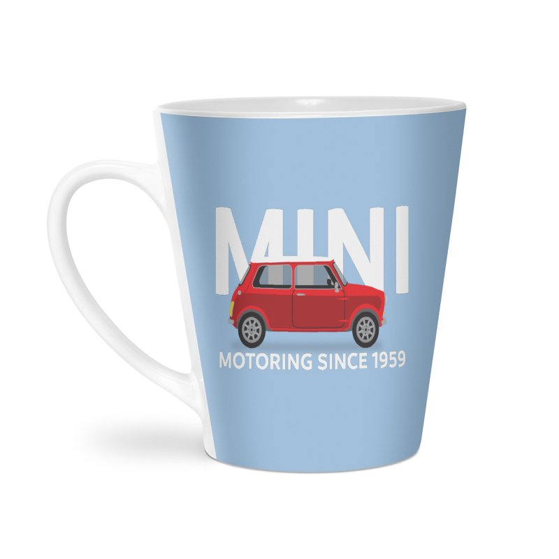 Classic Mini Accessories Latte Mug by TwistyMini Motoring Shirts