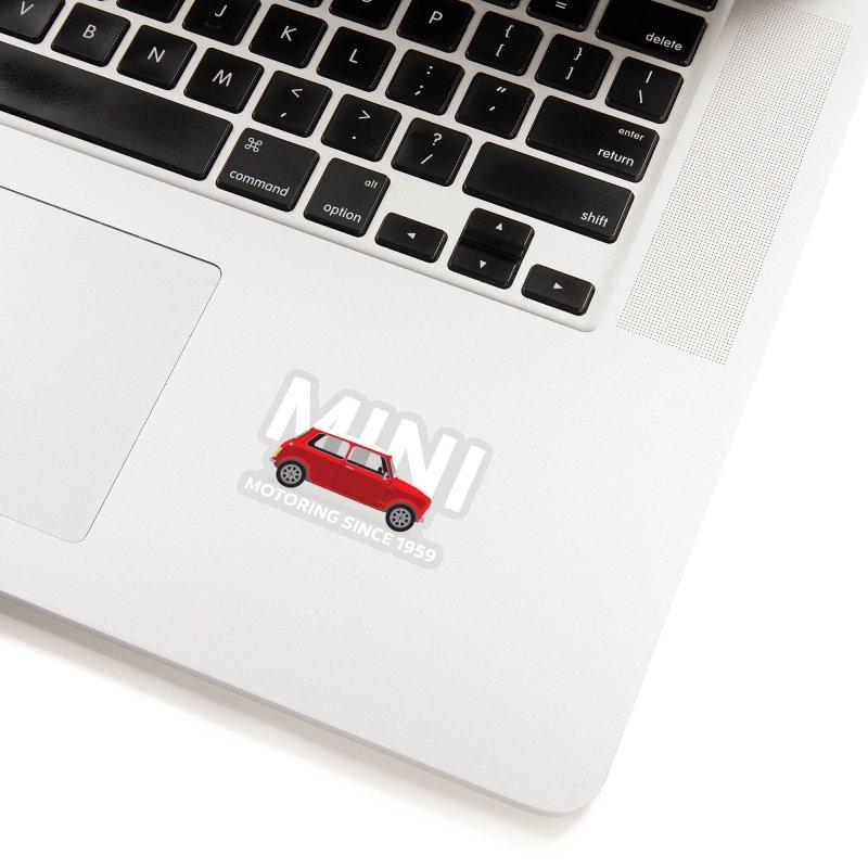 Classic Mini Accessories Sticker by TwistyMini Motoring Shirts