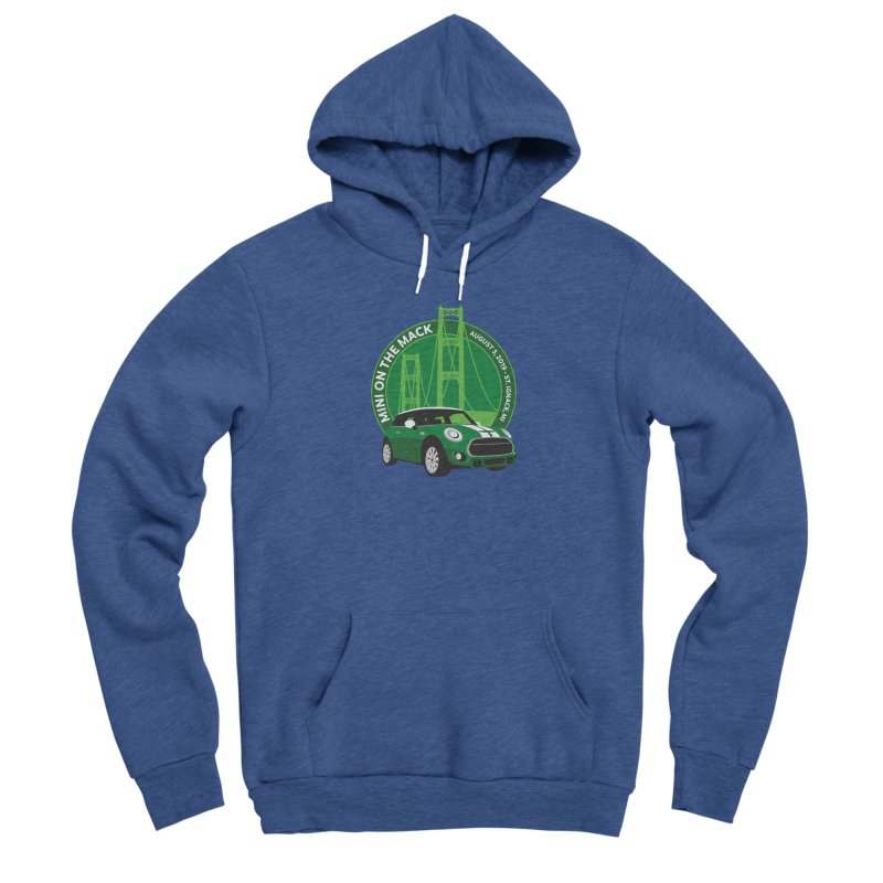 MINI on the Mack 2019 Men's Sponge Fleece Pullover Hoody by TwistyMini Motoring Shirts