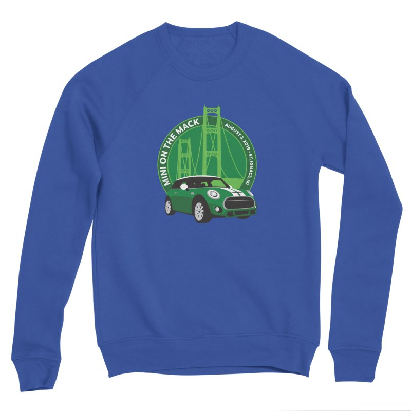 MINI on the Mack 2019 Men's Sponge Fleece Sweatshirt by TwistyMini Motoring Shirts