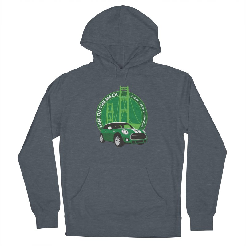 MINI on the Mack 2019 Men's French Terry Pullover Hoody by TwistyMini Motoring Shirts