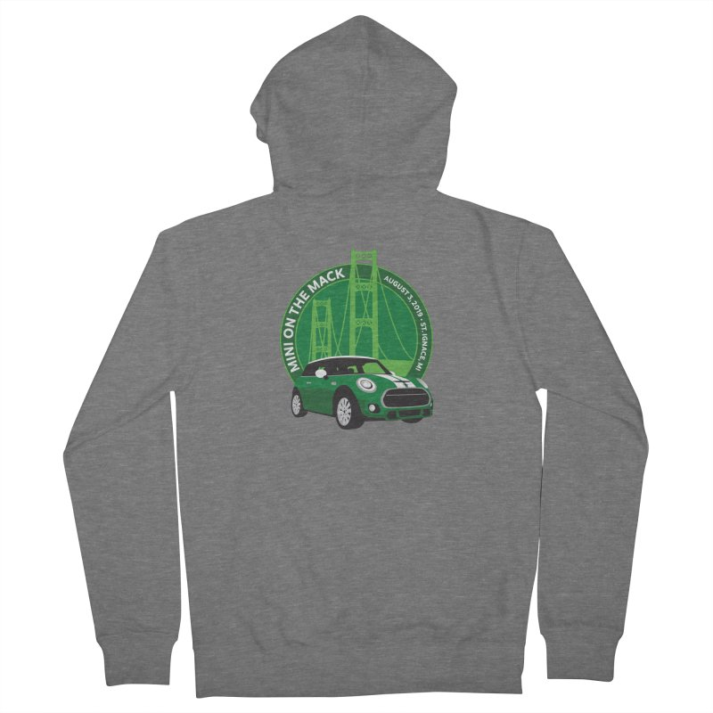 MINI on the Mack 2019 Women's French Terry Zip-Up Hoody by TwistyMini Motoring Shirts