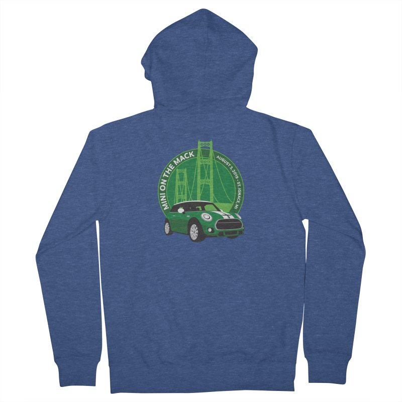 MINI on the Mack 2019 Men's French Terry Zip-Up Hoody by TwistyMini Motoring Shirts