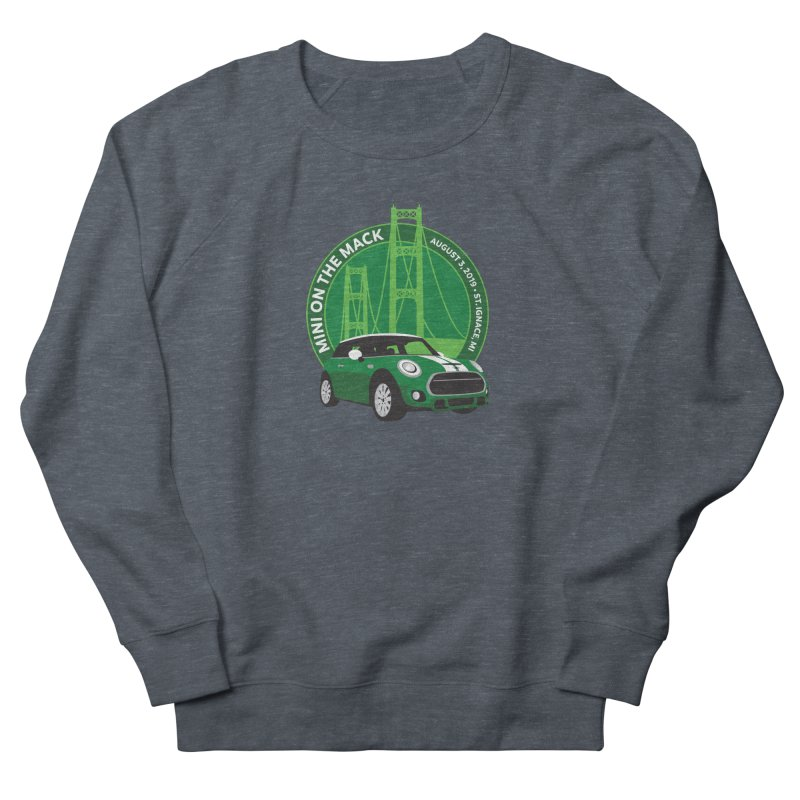 MINI on the Mack 2019 Men's French Terry Sweatshirt by TwistyMini Motoring Shirts