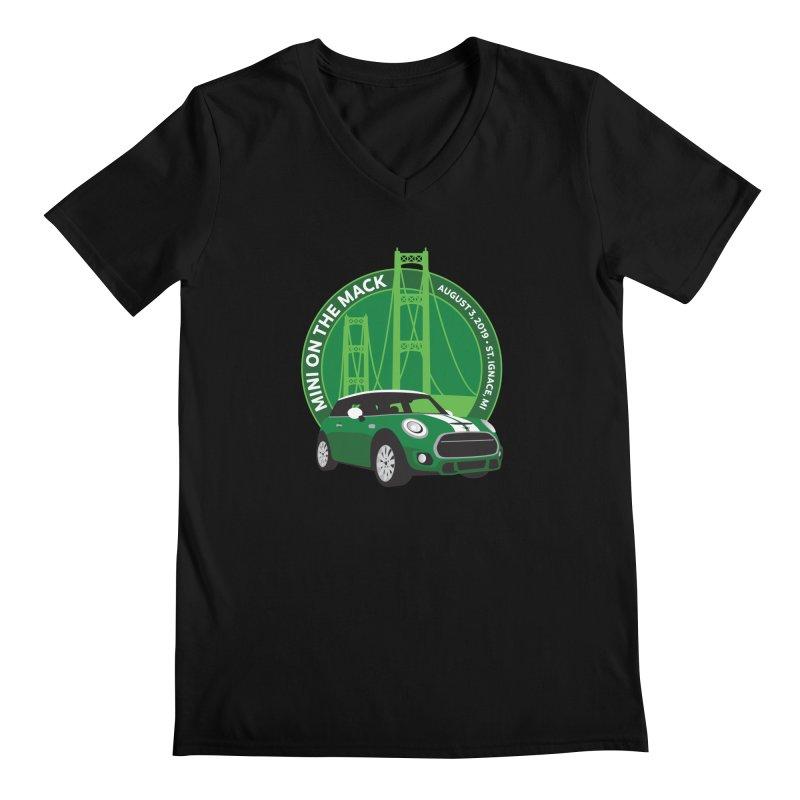 MINI on the Mack 2019 Men's Regular V-Neck by TwistyMini Motoring Shirts